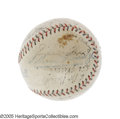 Autographs:Baseballs, 1931 Philadelphia Athletics Team Signed Baseball. The unstoppablecolossus of the American League, Connie Mack's crew rolle...
