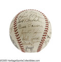 Autographs:Baseballs, 1938 Pittsburgh Pirates Team Signed Baseball. An absolutelyastounding array of Hall of Fame talent took the Bucs to the br...