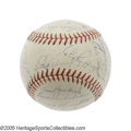 Autographs:Baseballs, 1938 New York Yankees Team Signed Baseball. This OAL (Harridge)ball represents one of the greatest Yankee dynasties, curre...