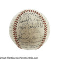 Autographs:Baseballs, 1941 New York Yankees Team Signed Baseball. One of the greatestseasons in the history of a franchise with no shortage ther...