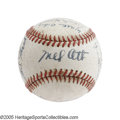 Autographs:Baseballs, 1944 New York Giants Team Signed Baseball. Tell us that you have a bolder Mel Ott autograph, and we'll call you a liar. It...