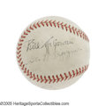 "Autographs:Baseballs, 1944 World Series Game Used Baseball Signed by McGowan. A ""Subway Series"" of a different sort, as the Fall Classic headed w..."