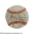 Autographs:Baseballs, 1947 Cincinnati Reds Team Signed Baseball. Any National League teamball from this season is particularly noteworthy for th...