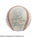 Autographs:Baseballs, 1947 New York Yankees Team Signed Baseball. A teenage boy's prideand joy, this baseball signed by the World Champion 1947 ...