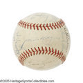 Autographs:Baseballs, 1948 New York Yankees Team Signed Baseball. In one of the tightestpennant races in American League history, three teams al...