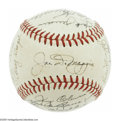 Autographs:Baseballs, 1951 New York Yankees Team Signed Baseball, PSA NM-MT 8. Afterseeing a 1951 Yankees team sphere graded PSA Mint 9 realize ...