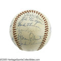 Autographs:Baseballs, 1954 National League All-Star Team Signed Baseball. In one of themost dramatic episodes in Midsummer Classic history, feat...