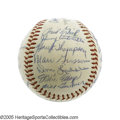 Autographs:Baseballs, 1954 New York Giants Team Signed Baseball. The World Championshipof Major League Baseball comes to the borough of Manhatta...
