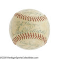 Autographs:Baseballs, 1958 Boston Red Sox Team Signed Baseball. Ted Williams takes hisappropriate place on the sweet spot of this nicely toned O...