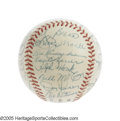 Autographs:Baseballs, 1958 New York Yankees Team Signed Baseball. Setting this Yankeeteam sphere well apart from the rest is the presence of not...