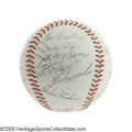 Autographs:Baseballs, 1965 Pittsburgh Pirates Team Signed Baseball. Twenty-one NRMT signatures from the residents of Forbes Field include the ess...