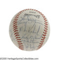 Autographs:Baseballs, 1970 New York Yankees Team Signed Baseball with Rookie Munson. Thelegendary Yankee backstop exhibited such brilliance in h...