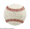 Autographs:Baseballs, 1972 New York Yankees Team Signed Baseball. The great ThurmanMunson is the key signature on this OAL (Cronin) baseball fea...