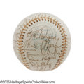 Autographs:Baseballs, 1974 New York Yankees Team Signed Baseball, PSA Mint 9. Another Yankees team ball from the teenaged beauty that consigned t...