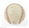 Autographs:Baseballs, 1976 New York Yankees Team Signed Baseball. The Yanks return totheir rightful place atop the American League heap, thanks ...