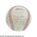 Autographs:Baseballs, 1981 Negro League Reunion Multi-Signed Baseball. Not since theactive days of the Negro Leagues had such a convergence of t...
