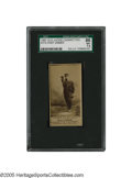 Baseball Cards:Singles (Pre-1930), 1887 Old Judge Cigarettes N172 Chief Zimmer SGC NM+ 86. The Native American star catcher was representing the American Asso...