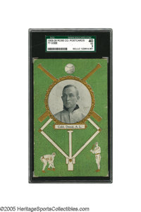 1908-09 Rose Co. Postcards Ty Cobb SGC VG 40. One of the most graphically appealing of all baseball issues is the suprem...