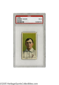 1909-11 T206 Sherry Magee (Magie) Error Card PSA VG 3. To give some idea of the incredible scarcity of this important to...