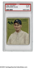 Baseball Cards:Singles (1930-1939), 1933 Goudey Napoleon Lajoie #106 PSA VG 3. Only the famous HonusWagner card of the T206 set could claim a more vast divide...