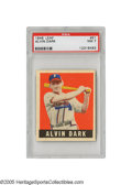 Baseball Cards:Singles (1940-1949), 1948 Leaf Alvin Dark #51 PSA NM 7. Very little opportunity to caststones at this sharp rookie from the '48 Leaf set. Cond...