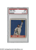 Baseball Cards:Singles (1940-1949), 1948 Leaf Eddie Joost #62 PSA NM 7. A top ten candidate for American League MVP when this card was issued, Joost's fine ser...