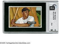 1951 Bowman Willie Mays #305 GAI Mint 9. Along with fellow Hall of Fame rookie Mickey Mantle, Mays is responsible for a...