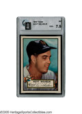 Baseball Cards:Singles (1950-1959), 1952 Topps Hoyt Wilhelm #392 GAI NM+ 7.5. A grand era in baseball card collecting begins with the debut of the world famous...