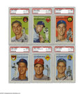Baseball Cards:Sets, 1954 Topps Baseball Near Complete Set (224/250). Offered is a midgrade 1954 Topps set. This classic presents both portrait ...