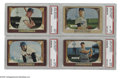 Baseball Cards:Sets, 1955 Bowman Baseball Partial Set (224/320). This lot contains a complete run of the low numbers (1-224) from this last bowma...