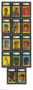 Baseball Cards:Sets, 1958 Topps High-Grade Complete Set (494). The 1958 Topps set was numbered to 495, but one card (145) was not issued after Ed...