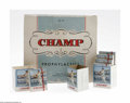 "Baseball Collectibles:Others, 1950's Ted Williams ""Champ"" Prophylactics Lot. Despite TedWilliams' strong Catholic New England fan base, the makers of ""C..."