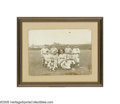 Baseball Collectibles:Photos, Circa 1890 Cleveland Professional Baseball Cabinet Photograph.Large and fantastic image pictures eleven ballplayers sporti...