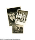 Baseball Collectibles:Photos, 1930's Ruth, Gehrig & Baker Wire Photographs Lot of 3. Noshortage of pinstriped home run power in this trio ofphotographs...