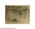 Baseball Collectibles:Photos, 1923 Casey Stengel World Series Home Run Large Wire Photograph fromthe Casey Stengel Collection. Voted number sixty-six on...