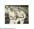 Baseball Collectibles:Photos, 1927 Babe Ruth & Lou Gehrig Wire Photograph from the Casey Stengel Collection. This may well be our very favorite photograp...