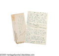 Autographs:Letters, 1929 Casey Stengel Handwritten Letter from the Casey StengelCollection. A short handwritten letter to his mother on both s...