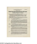 """Autographs:Others, 1929-31 Casey Stengel Toledo Mudhens Contract & Addendums from the Casey Stengel Collection. """"Say, I've got a tip on the ma..."""