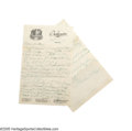 Autographs:Letters, 1930 Casey Stengel Handwritten Letter from the Casey Stengel Collection. Spectacular content in the offered four-page (two ...