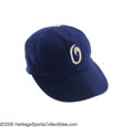 Baseball Collectibles:Uniforms, Circa 1948 Oakland Oaks Game Worn Cap from the Casey StengelCollection. It was the Ol' Perfessor's success with the Pacifi...