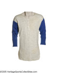 Baseball Collectibles:Uniforms, Early 1960's Casey Stengel Game Worn Mets Undershirt #1 from theCasey Stengel Collection. Soft wool undershirt is the style...