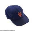 Baseball Collectibles:Hats, Circa 1962 Casey Stengel Game Worn Mets Cap from the Casey StengelCollection. Fantastic wear on this earliest of Mets caps...