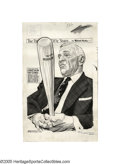 Baseball Collectibles:Others, 1964 Casey Stengel Original Artwork by Mullin from the CaseyStengel Collection. Nothing less than a masterful portrait of ...