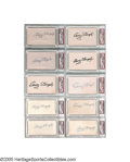 Autographs:Index Cards, Casey Stengel Signed Index Cards Lot of 10 from the Casey Stengel Collection. Dealer lots don't get much more appealing tha...