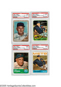 Autographs:Sports Cards, 1962-65 Topps Cards Signed by Casey Stengel from the Casey Stengel Collection. We expect that Stengel kept these cards in h...