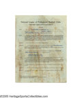 Autographs:Others, 1966 Casey Stengel New York Mets Contract from the Casey Stengel Collection. Seventy-five years old, and his managerial dut...