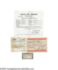 Baseball Collectibles:Others, Social Security Card, Baptismal Certificate & More from the Casey Stengel Collection. While it's likely that only a few mem...