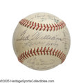 Autographs:Baseballs, 1951 American League All-Star Team Signed Baseball from the CaseyStengel Collection. Detroit's Briggs Stadium served as th...