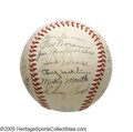Autographs:Baseballs, 1951 New York Yankees Team Signed Baseball, PSA NM+ 7.5 from the Casey Stengel Collection. A stellar 10/10 rookie signature...