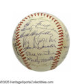 Autographs:Baseballs, 1952 New York Yankees Team Signed Baseball from the Casey Stengel Collection. A fourth consecutive World Championship seaso...